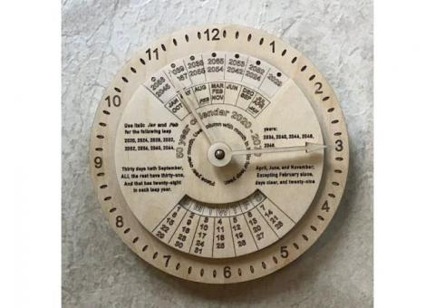 8 1/2 inch 50 Year Calendar and Clock